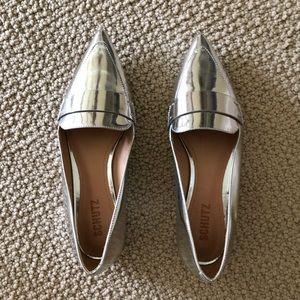 Schultz Elise silver pointy toe flats